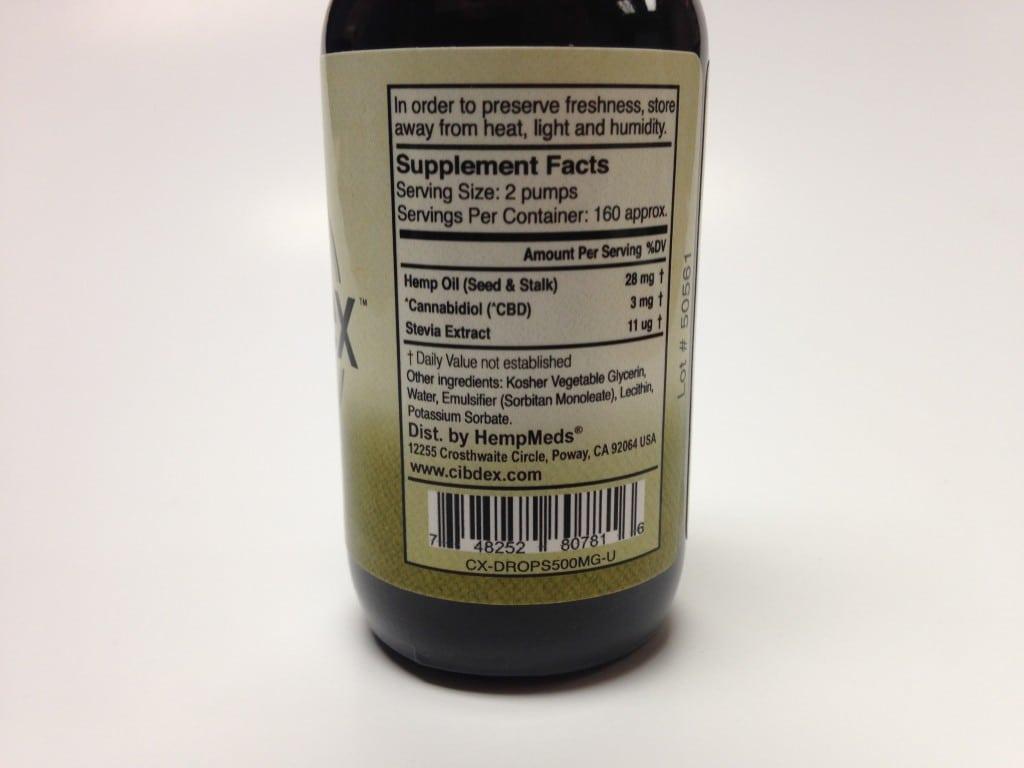 Cibdex-hemp-cbd-oil-500mg-supplement-facts
